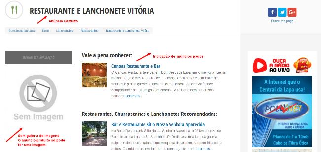 Restaurante e Lanchonete Vitória Bom Jesus da Lapa