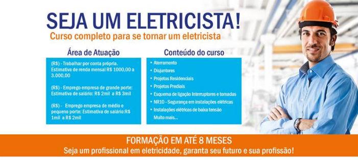 Seja uma eletricista qualificado, faça cursos