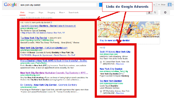 Google Adwords - Links Patrocinados