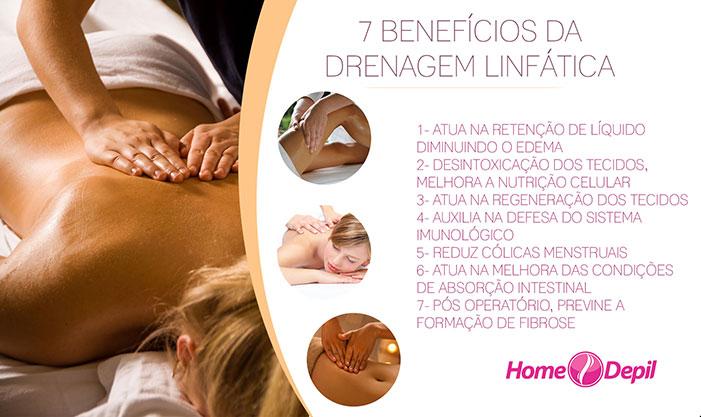 7 benefícios da drenagem linfática