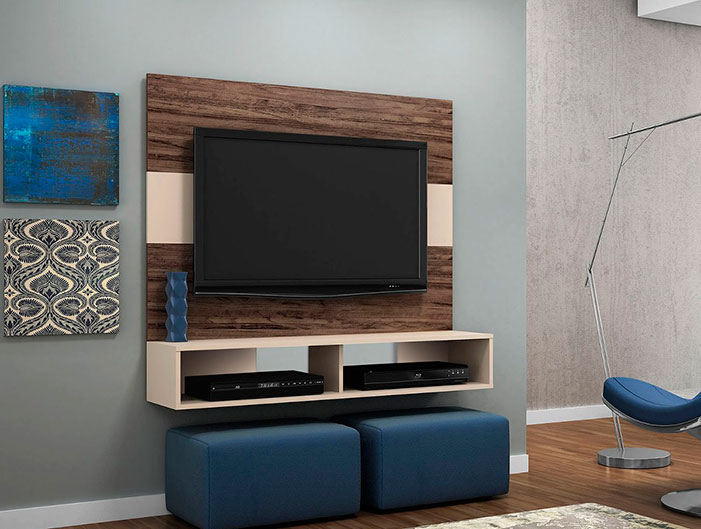 decoração com tv na parede