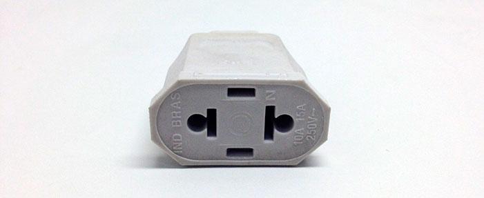 Tomada externa 2p Universal 10/15a 250v Cinza