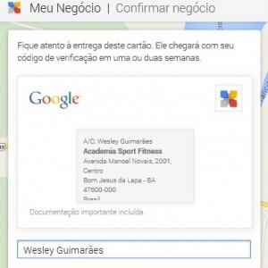 finalização de cadastro de empresa no google - parte 2