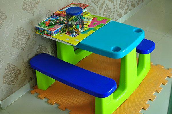 Temos espaço destinado ao lazer para crianças