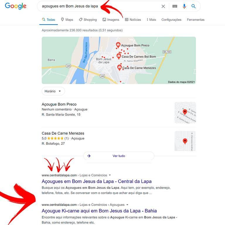 O Anúncio no Central da Lapa ajuda seu negócio a aparecer no Google