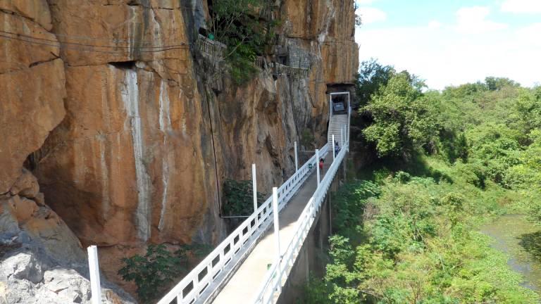 ponte entre a esplanada gruta da soledade